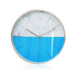 하프 벽시계 블루