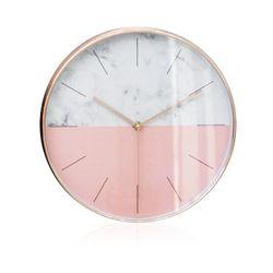 하프 벽시계 핑크
