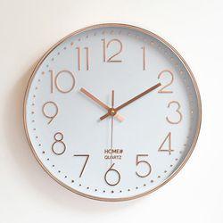 파인블루 모던 벽결이 시계 저소음시계