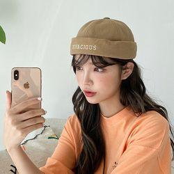 여자 남자 숏비니 VIVA 자수 와치캡 모자