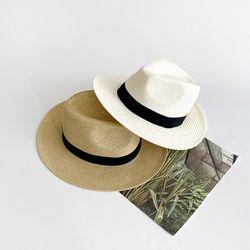 XL 천연 밀짚 페도라 빅사이즈 페도라 모자 남녀공용 여름모자