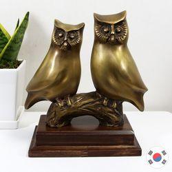 잉꼬부엉이 황동 조각상 동공예 장식품 STD-513