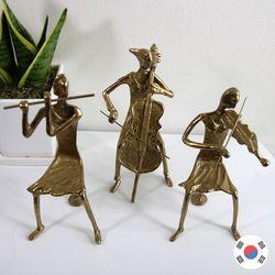황금색 삼중주 3p 황동주물 장식품 STD-521