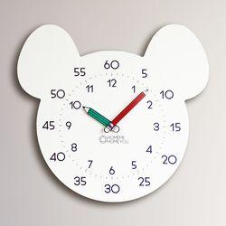 생쥐 어린이 심플 무소음 교육용 벽시계