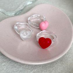 N Heart Ring