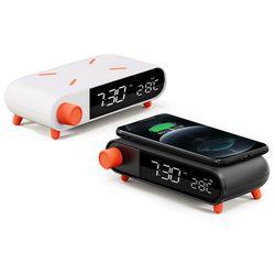 LED 고속 무선 충전 탁상 알람시계 UMWH-AL10W