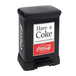 커버 코카콜라 30리터 페달식 휴지통