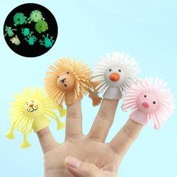 귀여운 야광 손가락 동물 인형 말랑이 스퀴시 장난감