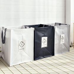 재활용 분리수거함 3p (소형) 쓰레기 분리수거통
