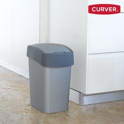 커버 플립 빈 (25리터)플라스틱 휴지통 쓰레기통