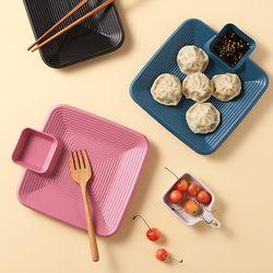 푸코 사각 초밥 만두접시 나눔접시