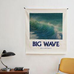 포토 행잉 패브릭 포스터 .가리개 커튼 wave 01 (행잉M)