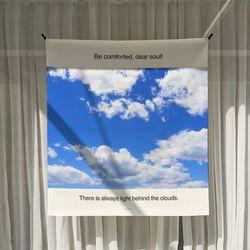 포토 행잉 패브릭 포스터 .가리개 커튼 clouds 01 (행잉M)