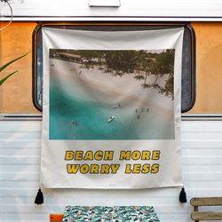 포토 행잉 패브릭 포스터 .가리개 커튼 beach  01 (행잉M)