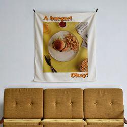 포토 행잉 패브릭 포스터 burger and fries 01(행잉M)
