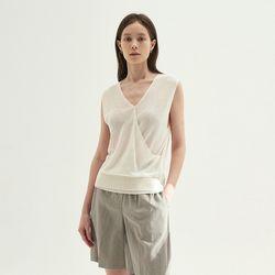 Wrap Blouson Sleeveless - White