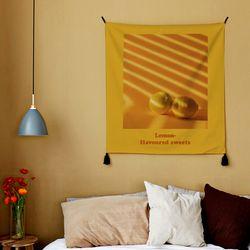 포토 행잉 패브릭 포스터.가리개 커튼 lemon 02 (행잉M)