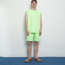 MW101 summer pig whshing harf pants yellowgreen