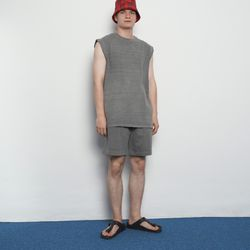 MW101 summer pig whshing harf pants grey