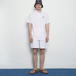MW391 pk setup half pants white