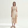 Eunoia Sleeveless Dress - Beige