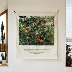 포토 행잉 패브릭 포스터.가리개 커튼 orange tree 01 (행잉M)