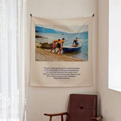 포토 행잉 패브릭 포스터.가리개 커튼 boat 01 (행잉M)