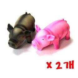 라텍스인형 1p 2개 라텍스장난감 노즈워크 돼지인형