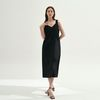 Dazzling Sleeveless Dress - black