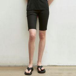 COTTON BIKER SHORTS [BLACK]