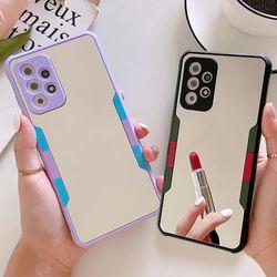 갤럭시s10 컬러포인트 미러 거울 풀커버 실리콘케이스