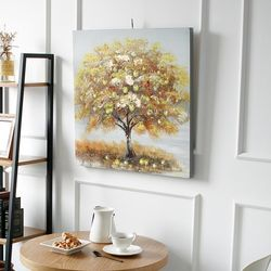 캔버스 나무 -사과나무