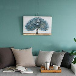 캔버스 나무 -블루나무