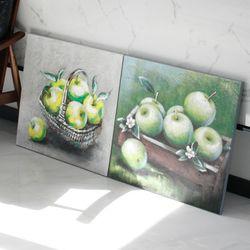 캔버스 초록사과-2type