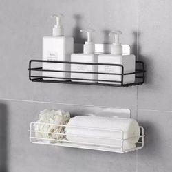 욕실 무타공 철제 일자 선반 2color