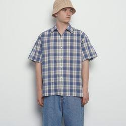 MW613 unisex classic check shirts sky