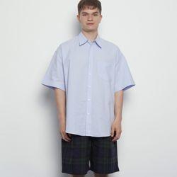 MW313 linen over half shirts sky