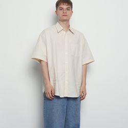MW313 linen over half shirts beige