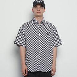 M613 checkerboard shirts black