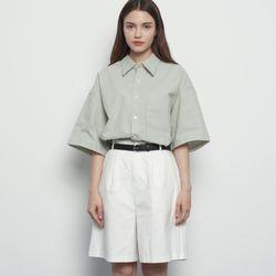 MW313 linen over half shirts khaki
