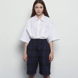 MW313 linen over half shirts ivory