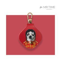 [MR TIME x Pets Rock] 펫츠락 갤럭시 태그 가죽 케이스 팝 레드