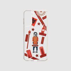 [MR TIME x Pets Rock] 펫츠락 갤럭시 S21+ 필름 케이스 팝 레드
