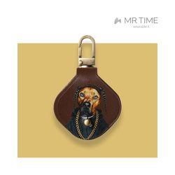 [MR TIME x Pets Rock] 펫츠락 갤럭시태그 가죽 케이스 랩브라운
