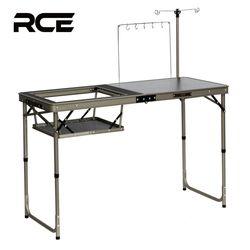 RCE 아이언 메쉬 접이식 캠핑 멀티 그릴 테이블