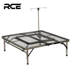 RCE 아이언 메쉬 접이식 캠핑 화로대 테이블