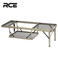 RCE 아이언 메쉬 접이식 캠핑 화로대 테이블 서브