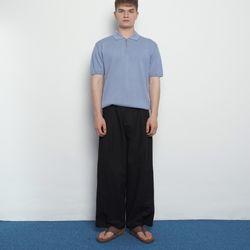 M456 linen wide pants black