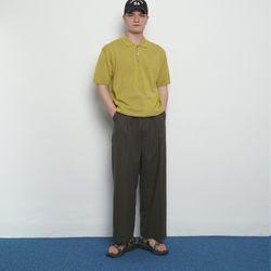 M456 linen wide pants khaki