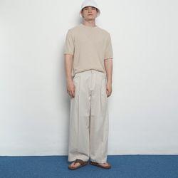 M456 linen wide pants beige